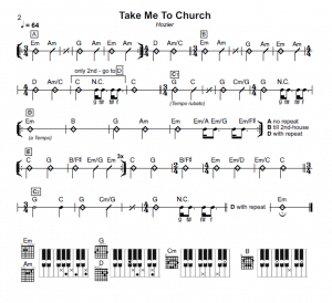 Noten von Take me to church