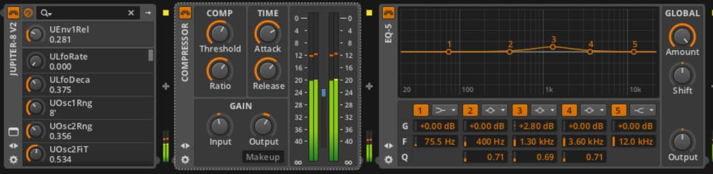 Screenshot - Bitwig - Jupiter 8v Channel