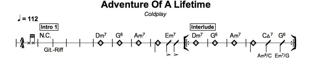 Die Chords aus den Charts: Coldplay – Adventure Of A Lifetime ...