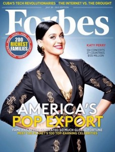 Forbes Magazin mit Katy Perry