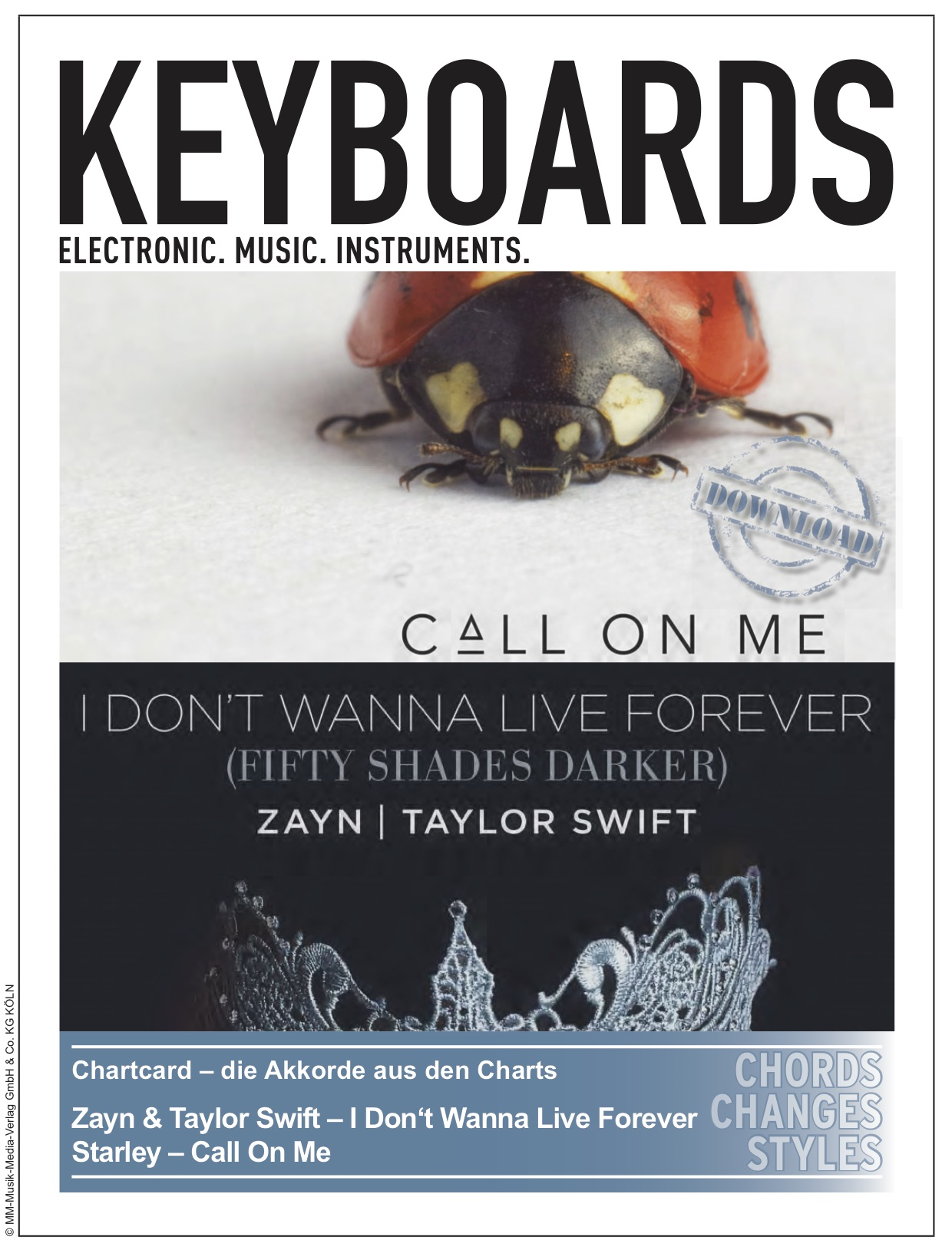 Produkt: Chartcard – I Dont Wanna Live Forever (Zayn/T.Swift) & Call On Me (Starley)