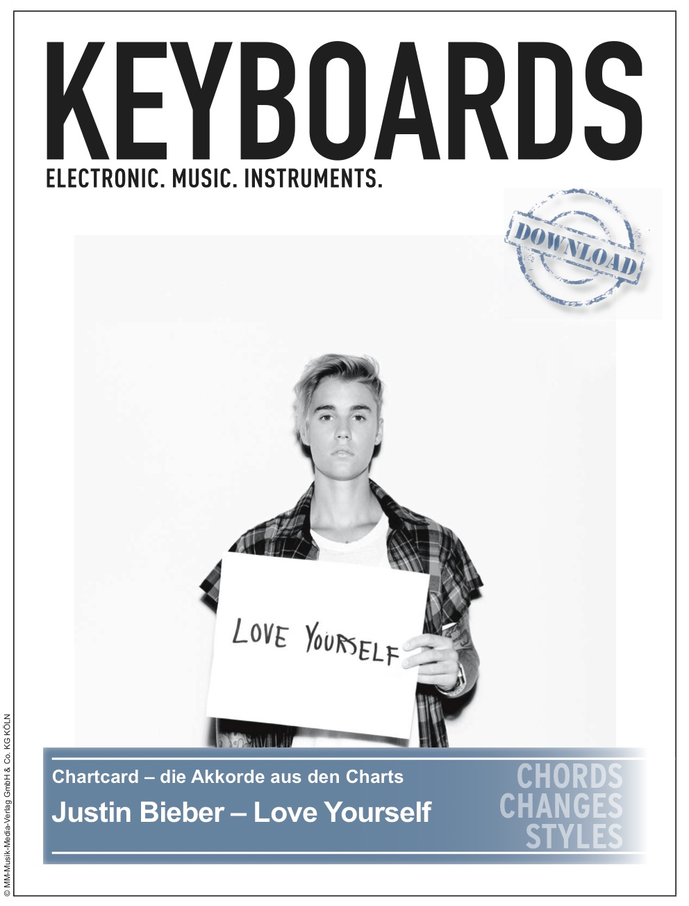 Produkt: Chartcard – Justin Bieber – Love Yourself