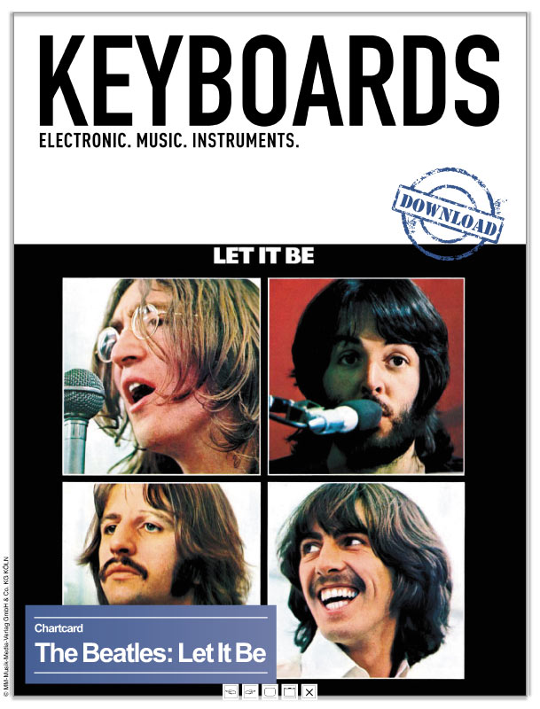 Produkt: Chartcard – Let It Be von den Beatles