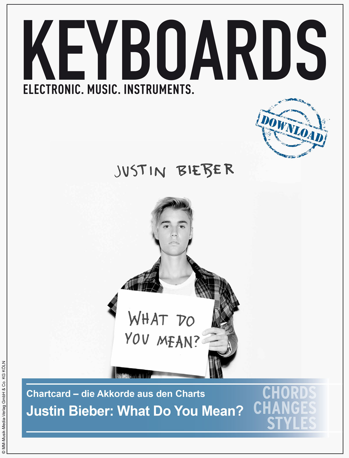 Produkt: Chartcard – Justin Bieber – What Do You Mean?